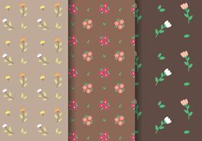 Tulip e Daisy Pattern Vector