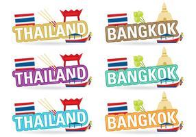 Titoli Thailandia e Bangkok vettore