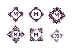 Insieme di vettore dei monogrammi