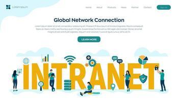 tecnologia di connessione di rete globale vettore