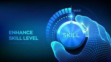 pulsante manopola livelli di abilità vettore