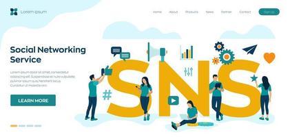 piattaforma online di servizi di social network vettore