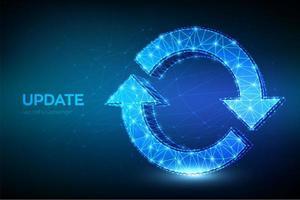 icona di aggiornamento o sincronizzazione vettore