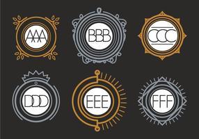 Vettore monogramma