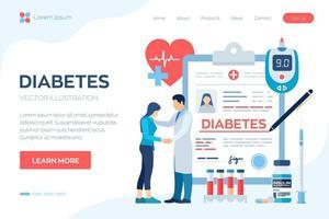 diagnosi medica - diabete vettore
