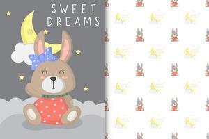 sogni d'oro baby bunny vettore