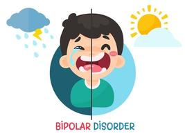 sbalzi d'umore da disturbo bipolare vettore