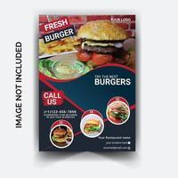volantino pubblicitario per ristoranti vettore