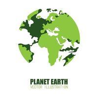 globo terrestre con interno trasparente su bianco