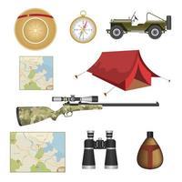set di equipaggiamento per safari