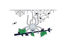 Vettore di Web di ragno