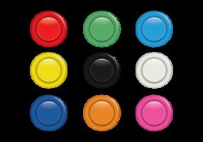 Set di pulsanti arcade colorati vettore