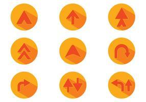 Vettore di Orange Flechas