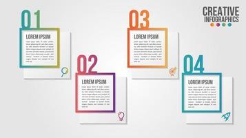 infografica set di passaggi numerati passo moderno timeline