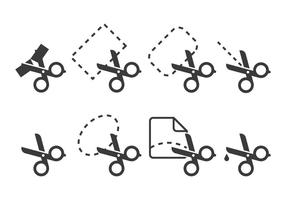 Icone di taglio del nastro vettore