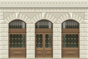 facciata classica in stile retrò vettore