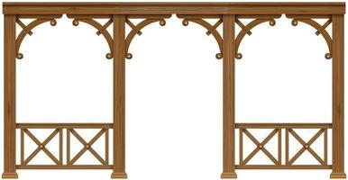 veranda classica in legno vettore