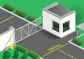 edificio di guardia isometrica vettore