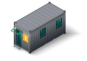 casa modulare per container per personale o lavoratori vettore