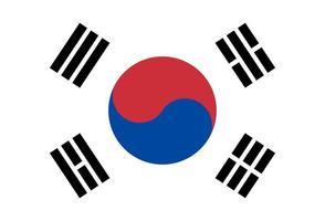 illustrazione della bandiera della Corea del sud vettore