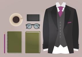 Essentials di moda maschile vettoriale