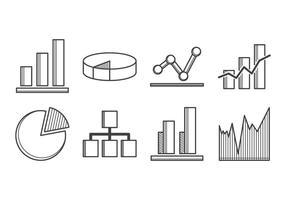 Diagramma icona vettoriale