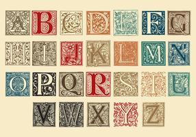 Lettere maiuscole ornamentali vettore