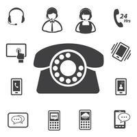 call center e icone del servizio clienti vettore