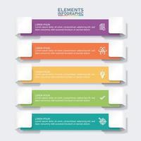 modello di elementi colorati infografica