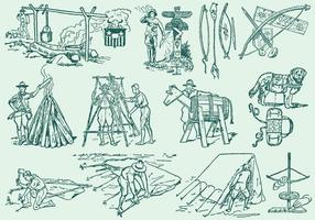 Illustrazioni di Boyscout vettore