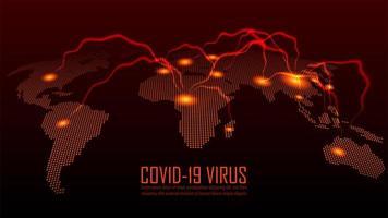 scoppio coronavirus in tutto il mondo design vettore