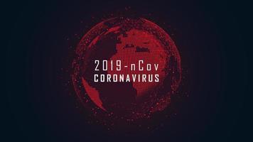 progettazione wireframe globale di epidemia di pandemia di coronavirus vettore
