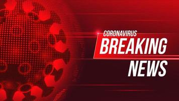 progettazione dell'aggiornamento di notizie di pandemia globale di coronavirus rosso vettore