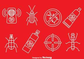 Vettore delle icone di controllo dei parassiti
