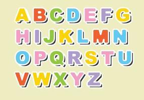 Vettore di alfabeto del magnete del frigorifero