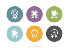 Set di icone vettoriali gratis coccarda