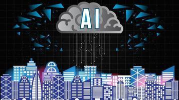 intelligenza artificiale città intelligente vettore