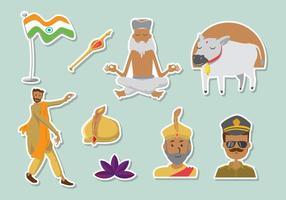 Icone gratis di Bollywood vettore