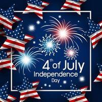 stati uniti d'america 4 luglio disegno della stella bandiera americana vettore