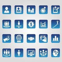set di icone di affari, gestione e risorse umane