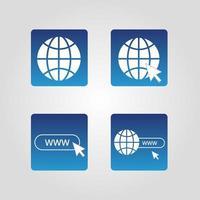 set di 4 icone semplici del sito Web