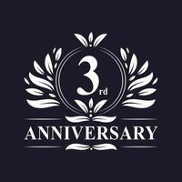 Logo del 3 ° anniversario vettore