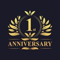 Logo del 1 ° anniversario vettore