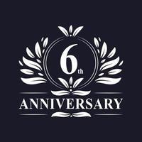 Logo del 6 ° anniversario vettore
