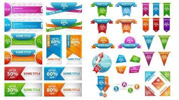 set di modelli di banner e coupon sconto universale