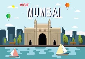 Illustrazione di Mumbai vettore