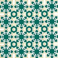 disegno del modello islamico contorno verde e oro