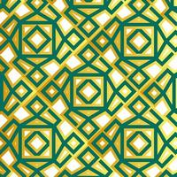 motivo islamico geometrico verde e oro