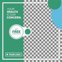 banner di social media design cerchio medico e sanitario