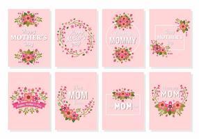 Vettore felice della carta del fiore di festa della mamma felice